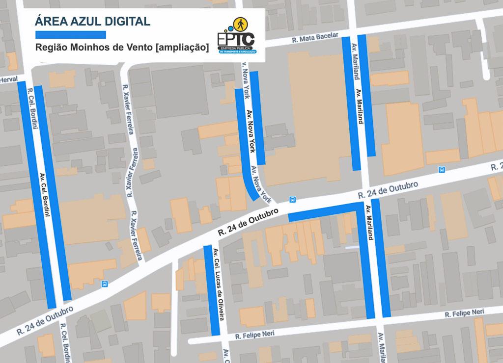 Mapa Área Azul