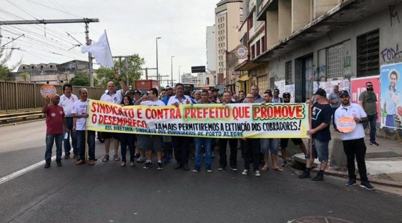 Protesto Rodoviários em Porto Alegre