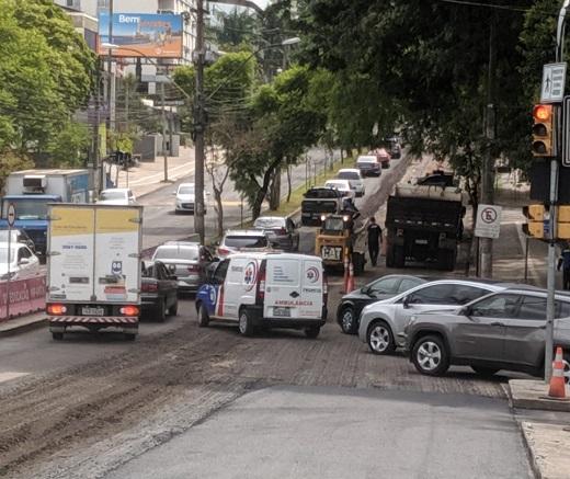 Avenida Nilo Peçanha Obras