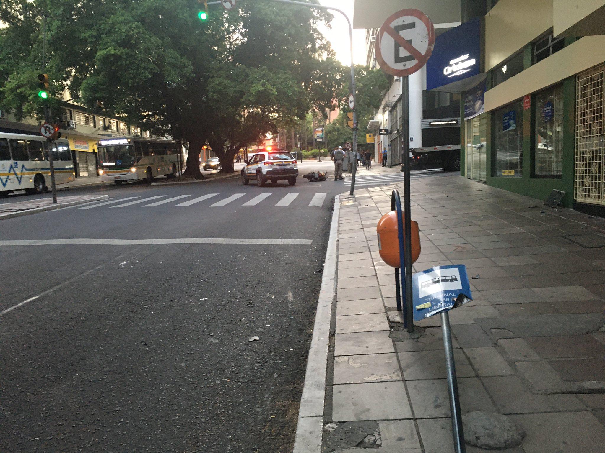 Motociclista Placa