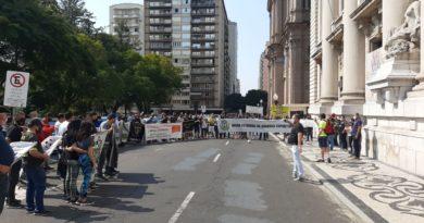 Manifestação na Duque de Caxias