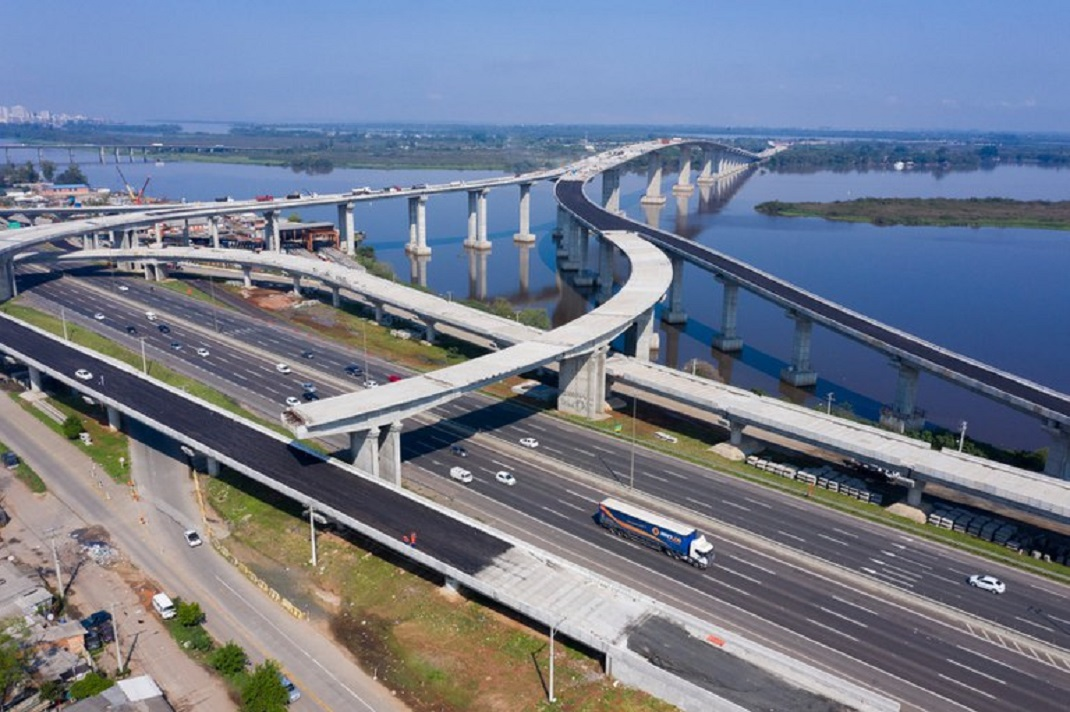 Obras da Nova Ponte do Guaíba