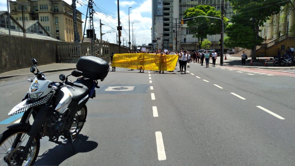 Manifestação na Mauá